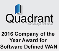 Mushroom Networks, Inc. won the Global Company of the Year Award in SD-WAN by Quadrant Research in 2017.